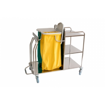Trolley for the colection and distribution of linen