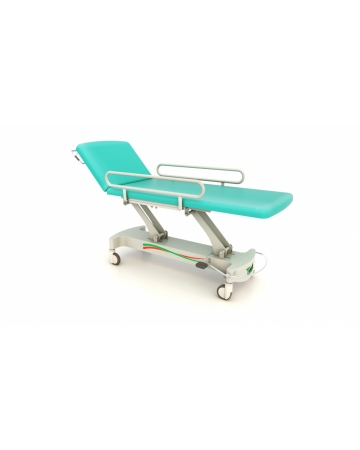 Examination, therapy table, 2 section with safety sides, hydraulic art. 114510