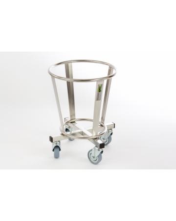 Inox mali koš na kolesih art. 301030