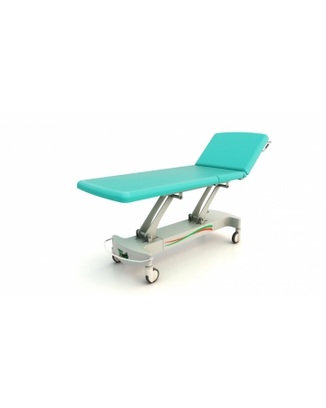 Examination, therapy table, art. 114520, 2 section, with possibility of open part for UZ of heart , electric