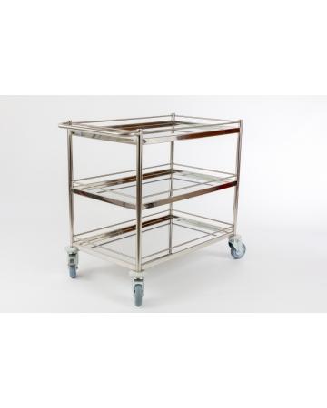 Servirni inox voziček art. 310630