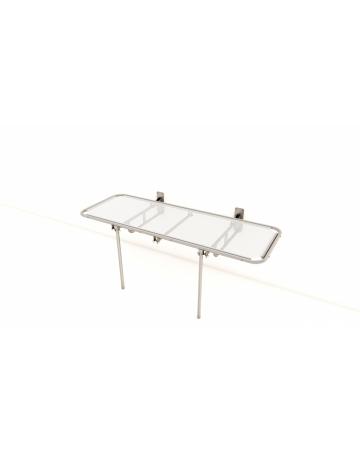 Stenska negovalna miza za tuširanje – fiksna art. 155041.