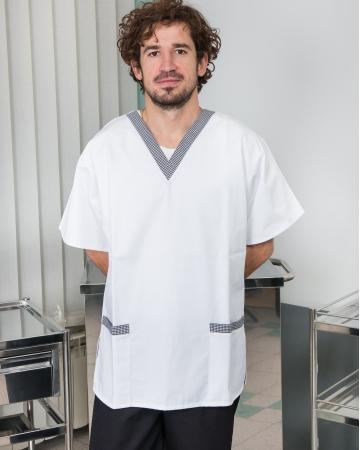 Unisex kuharske tunike na V izrez art. 02-000105