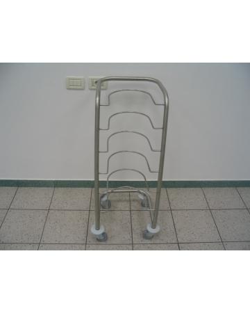 Voziček za prevoz nočnih posod inox art. 300800