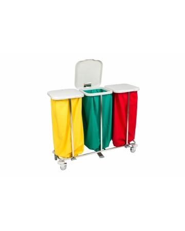 Voziček za prevoz umazanega perila trojni art. 300310/P
